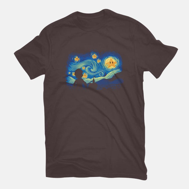 Super Starry Night-mens basic tee-Naolito