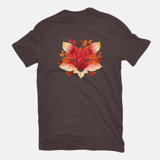 Fox of Leaves-womens fitted tee-NemiMakeit