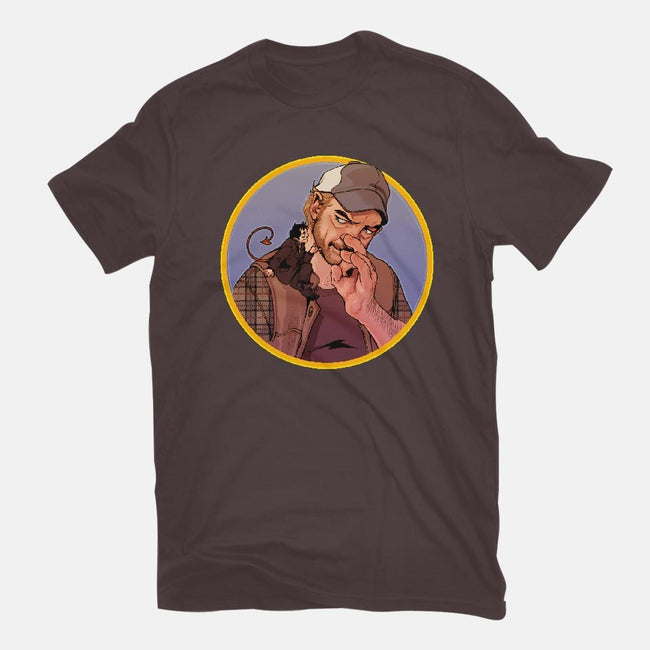 Devil On Your Shoulder-womens fitted tee-Gorlassar