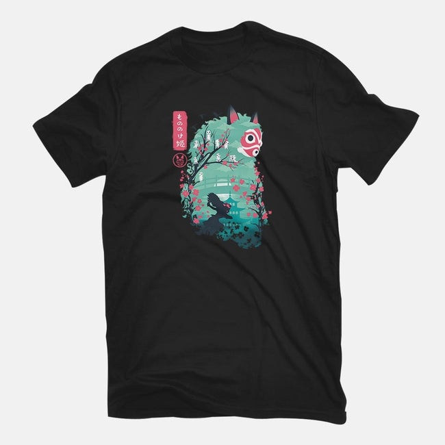 UKIYO E PRINCESS-womens basic tee-dandingeroz