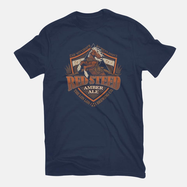 Red Steed Amber Ale-mens basic tee-CoryFreeman