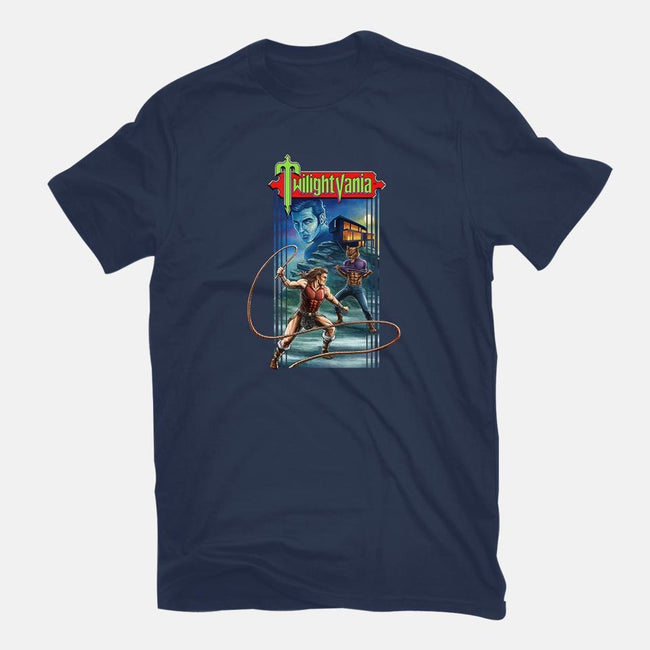 Twilightvania-mens basic tee-Moutchy
