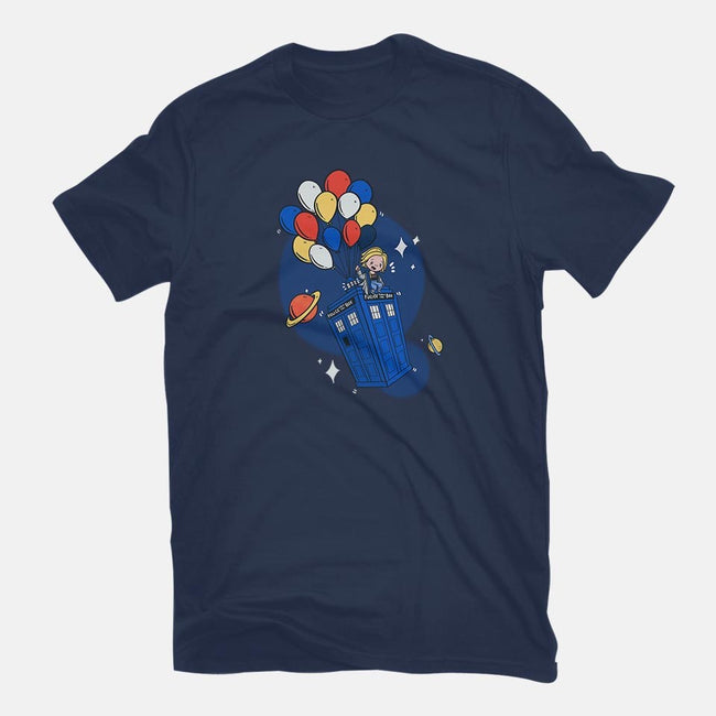 Flying Who-mens basic tee-TaylorRoss1