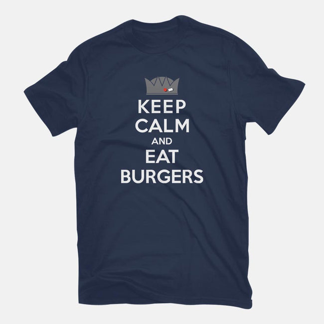 Eat Burgers-mens basic tee-machmigo