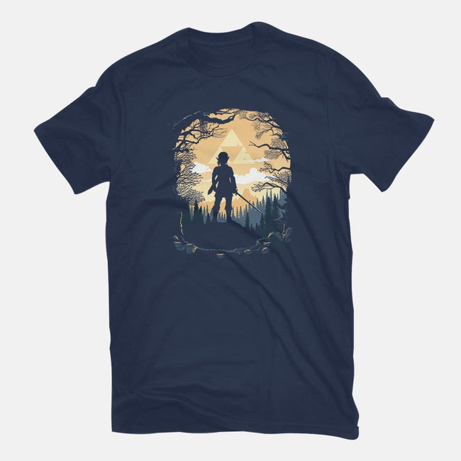 Warrior in the Forest-mens premium tee-albertocubatas