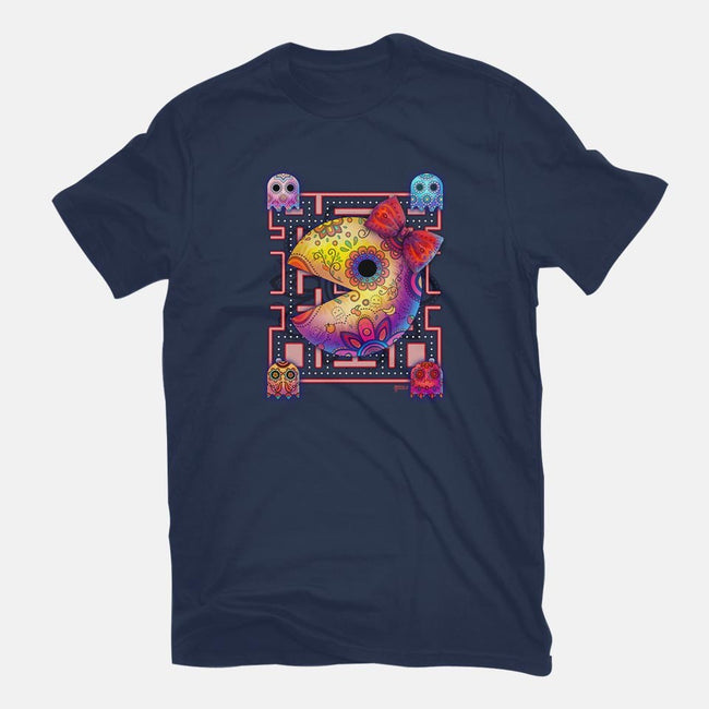 Ms Pac Muertos-mens basic tee-MoniWolf