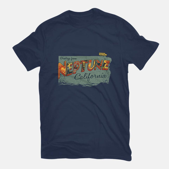 Greetings from Neptune-mens basic tee-OneShoeOff