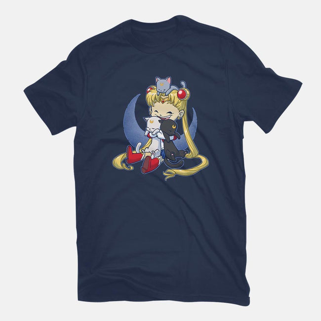 Crazy Moon Cat Lady-mens premium tee-DoOomcat