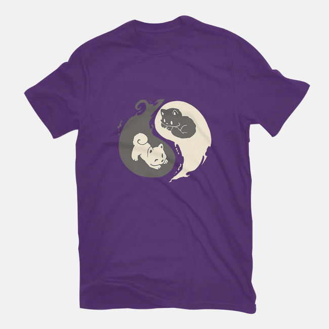 Yin and Yang-womens fitted tee-amyneko
