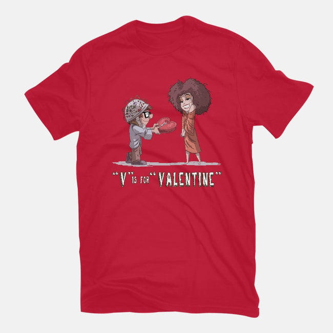 V is for Valentine-mens premium tee-otisframpton