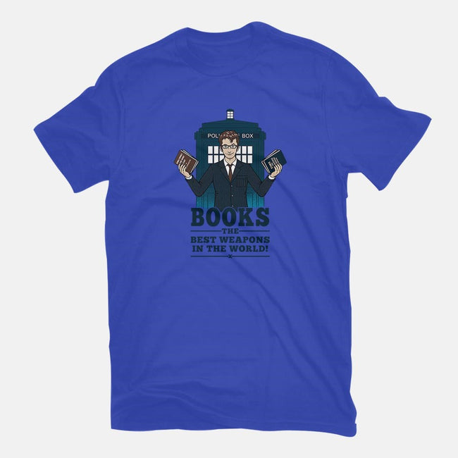 Books, The Best Weapons-mens basic tee-pigboom