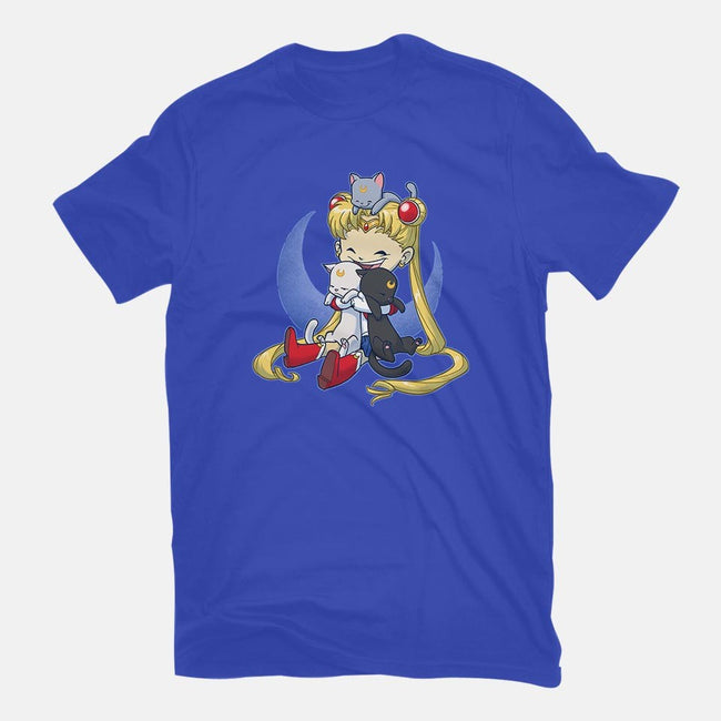 Crazy Moon Cat Lady-youth basic tee-DoOomcat