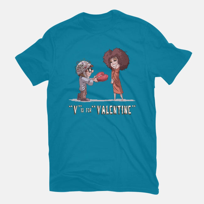 V is for Valentine-womens fitted tee-otisframpton