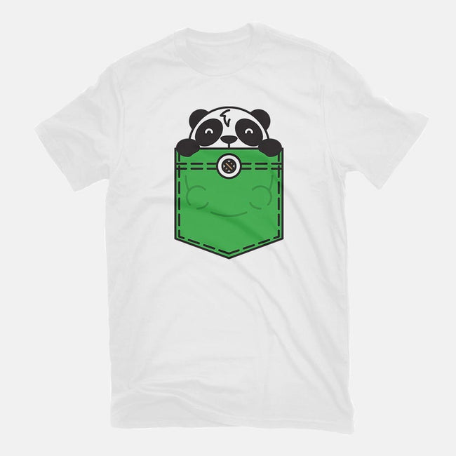 Pocket Panda-womens basic tee-StevenToang
