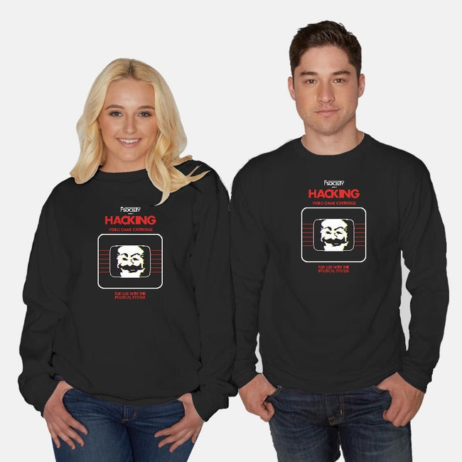 Hacking-unisex crew neck sweatshirt-ntesign