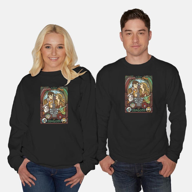 The Flight of Dragons-unisex crew neck sweatshirt-ursulalopez