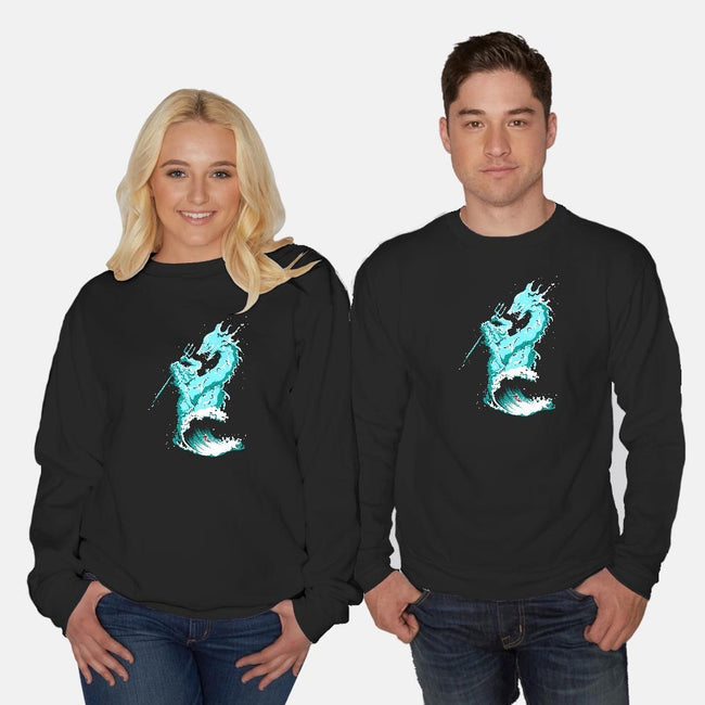 Ocean Fight-unisex crew neck sweatshirt-flying mouse
