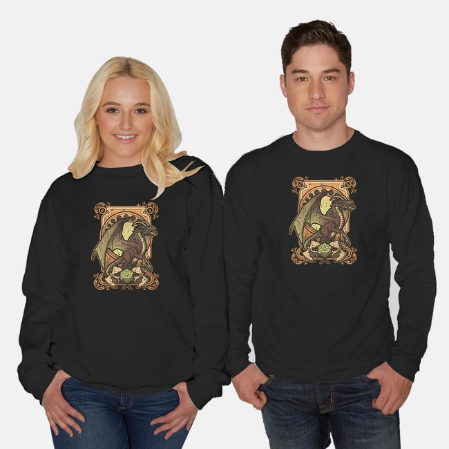 Dark Dragon-unisex crew neck sweatshirt-Letter_Q