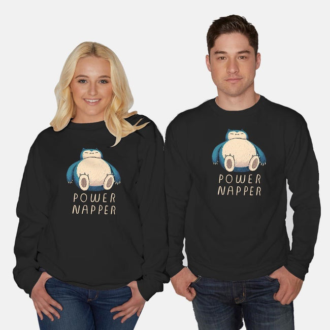 Power Napper-unisex crew neck sweatshirt-louisros