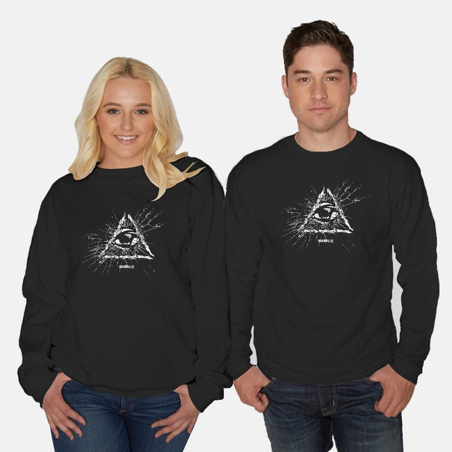 Under His Eye-unisex crew neck sweatshirt-department