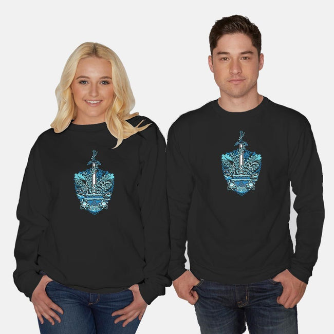 Waiting For a hero-unisex crew neck sweatshirt-PixelEyeBat