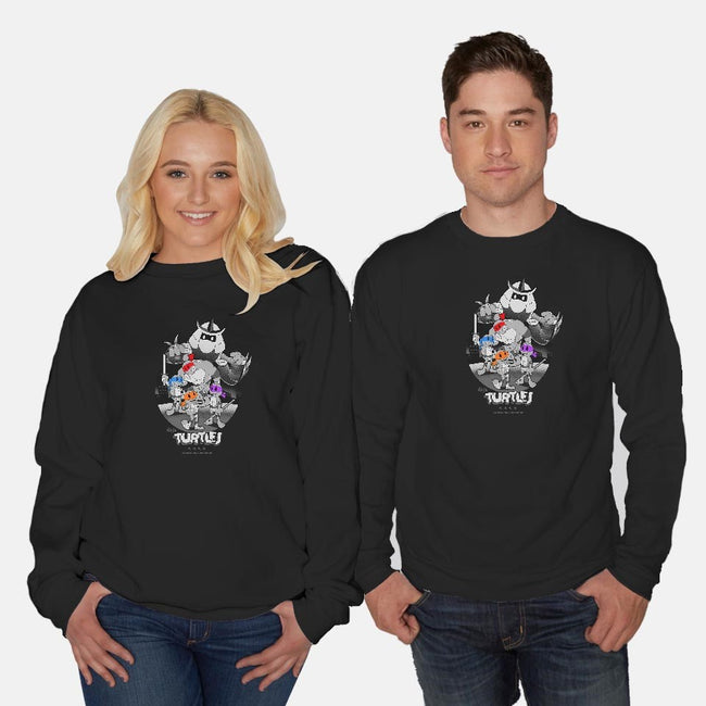 Old School Turtles-unisex crew neck sweatshirt-javiclodo