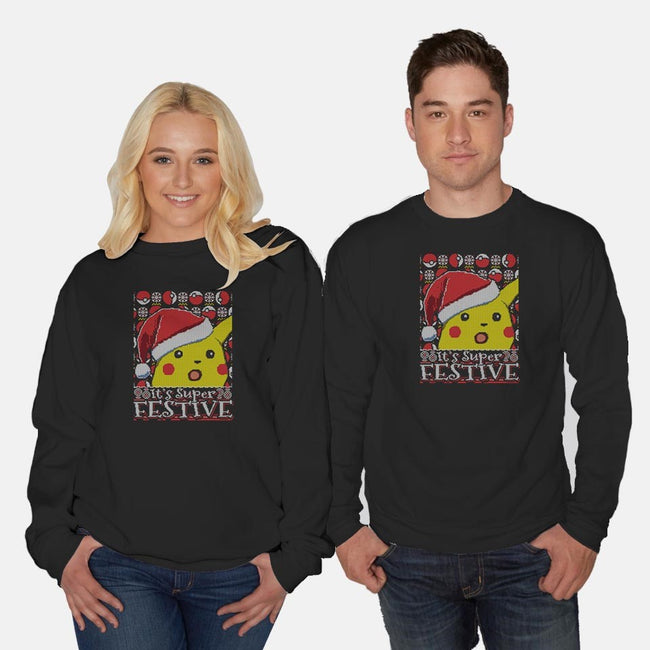 It's Super Festive-unisex crew neck sweatshirt-CoD Designs