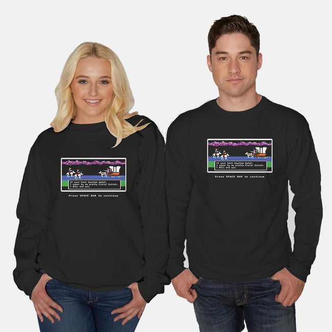 Powerful Ugly Creature-unisex crew neck sweatshirt-davesongart