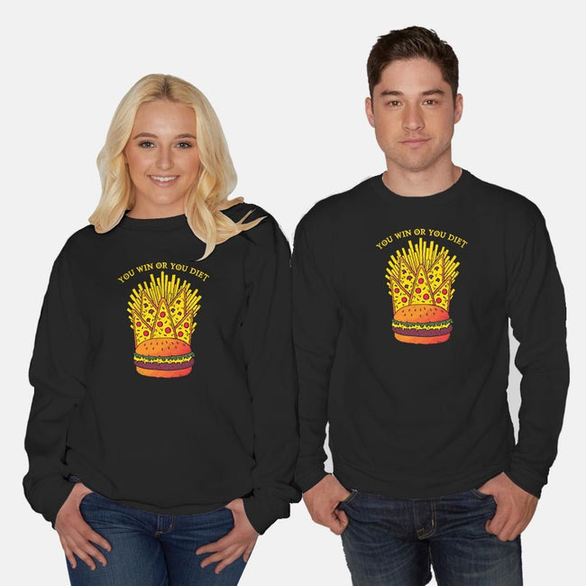 Game of Noms-unisex crew neck sweatshirt-DinoMike