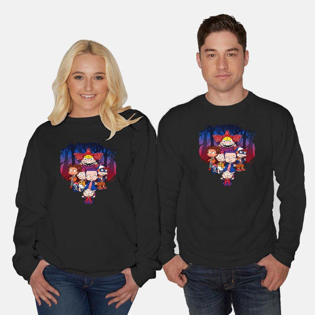 On Stranger Rugs-unisex crew neck sweatshirt-JCMaziu
