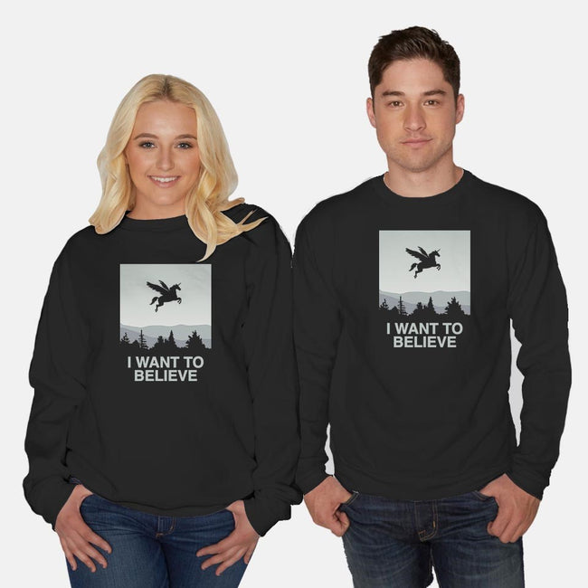 I Want to Believe-unisex crew neck sweatshirt-vomaria