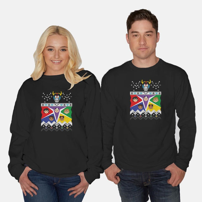 Knitted Lion Defenders-unisex crew neck sweatshirt-kalgado