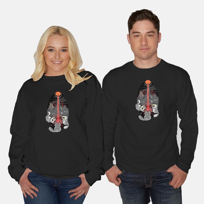 One Light Beam To Rule Them All-unisex crew neck sweatshirt-queenmob