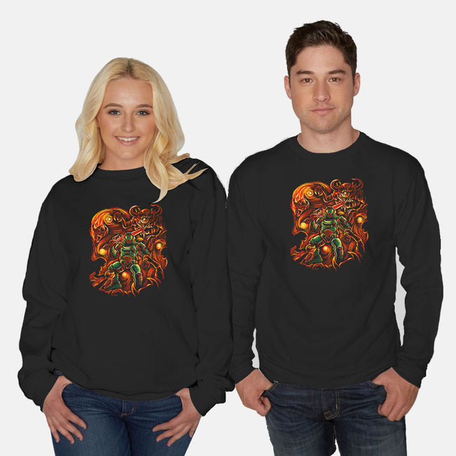 Fiery Night-unisex crew neck sweatshirt-Ste7en Lefcourt