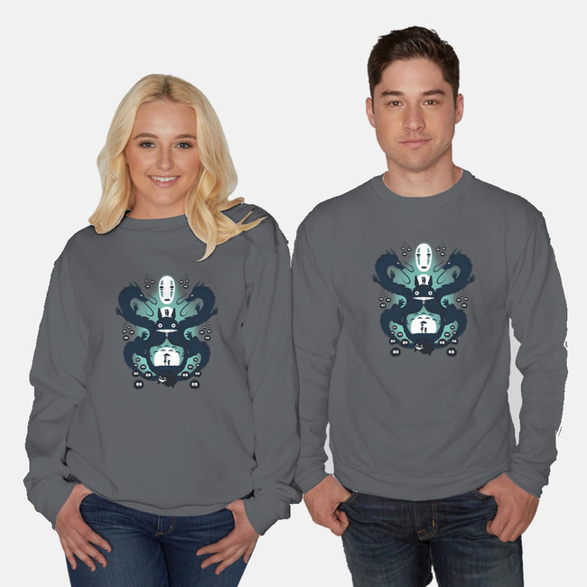 The Neighbor and The Spirit-unisex crew neck sweatshirt-thewizardlouis