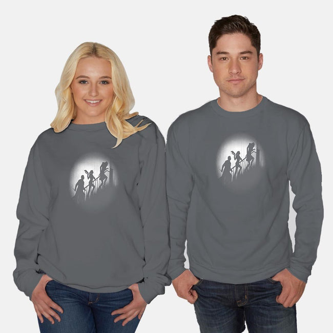 The Nosferatu Slayer-unisex crew neck sweatshirt-Six Eyed Monster