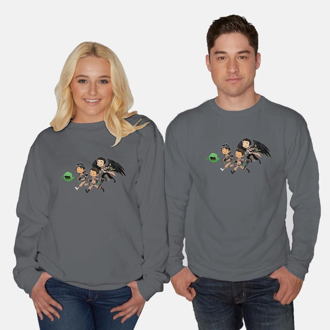 Who Ya Gonna Call?-unisex crew neck sweatshirt-DoOomcat