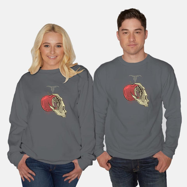 Death Apple-unisex crew neck sweatshirt-Clarck Art