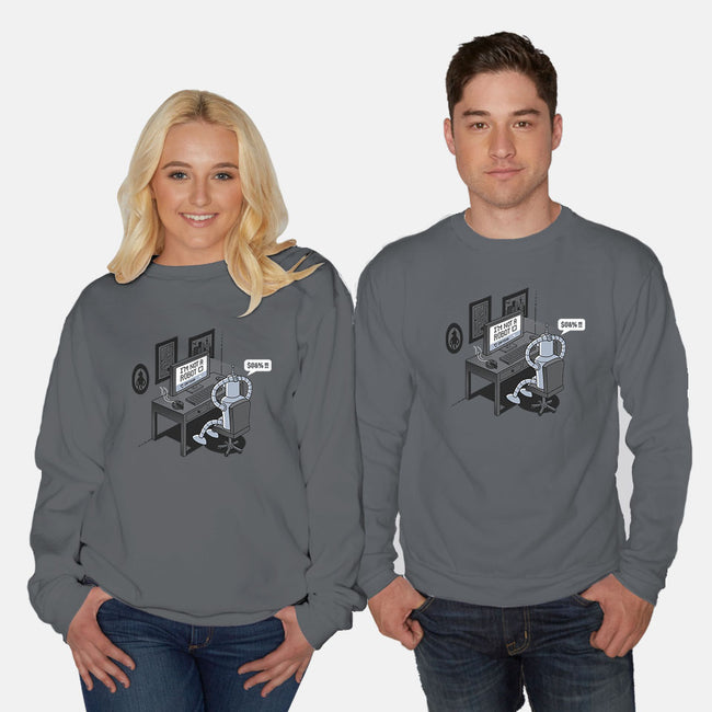 Robot Problems-unisex crew neck sweatshirt-Gamma-Ray