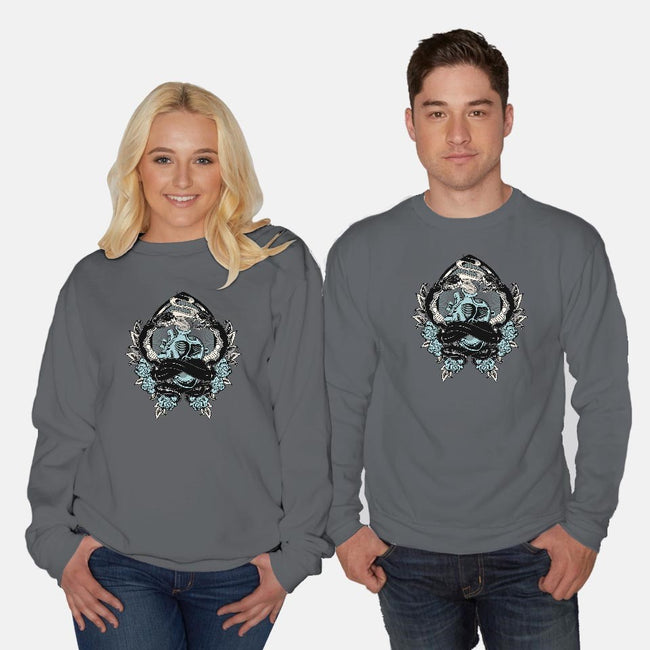 Old School-unisex crew neck sweatshirt-Arson
