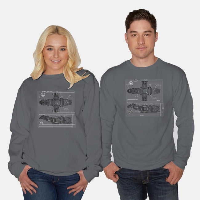 The Blueprint-unisex crew neck sweatshirt-AndreusD