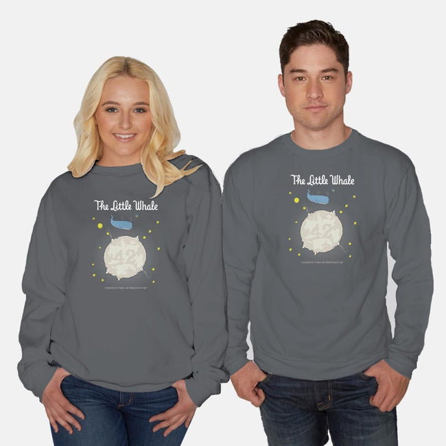 The Little Whale-unisex crew neck sweatshirt-maped