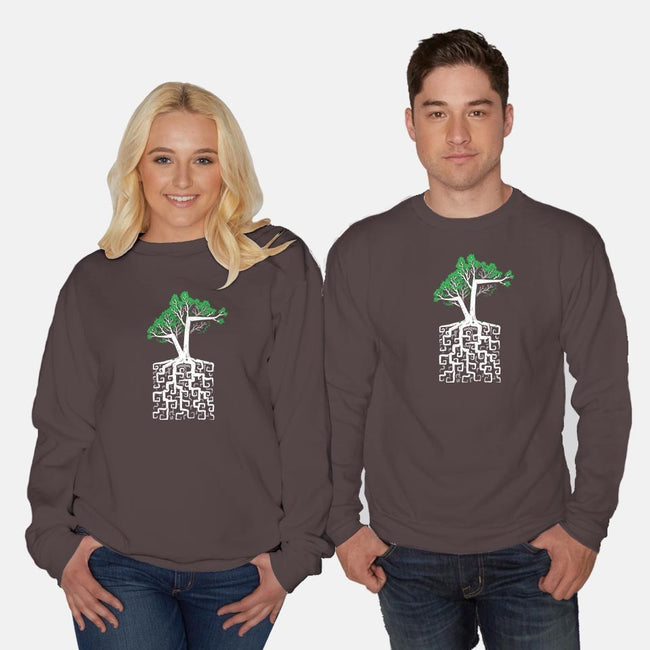 Square Root-unisex crew neck sweatshirt-C0y0te7
