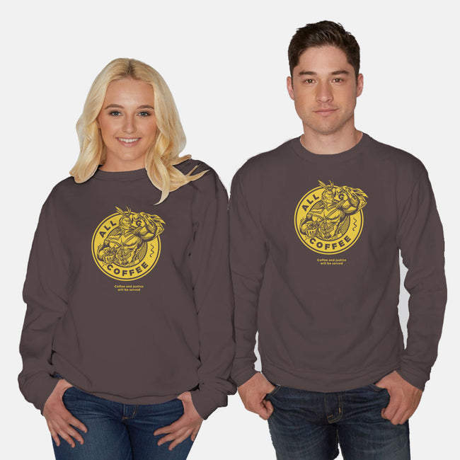 All Might Coffee-unisex crew neck sweatshirt-yumie
