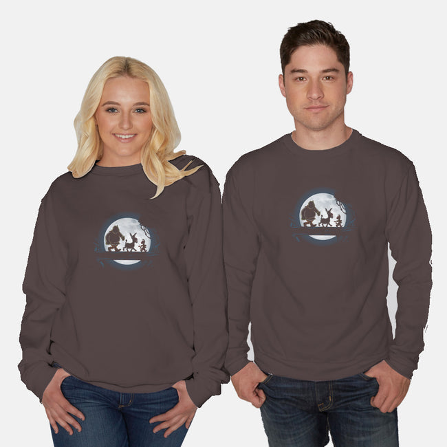 Moonlight Motto-unisex crew neck sweatshirt-jasesa