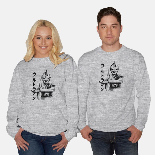Waterbrushed Hero Robot-unisex crew neck sweatshirt-cs3ink