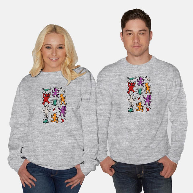 Haring Future-unisex crew neck sweatshirt-ducfrench