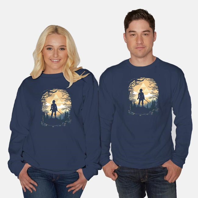 Warrior in the Forest-unisex crew neck sweatshirt-albertocubatas