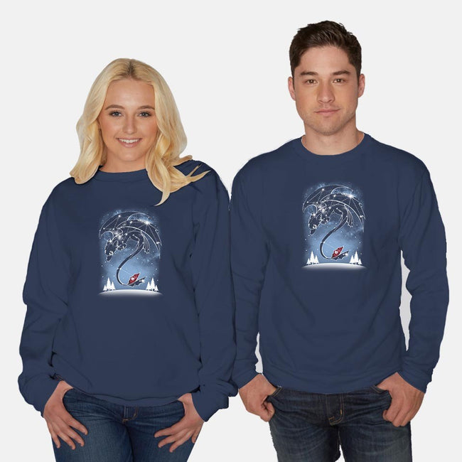 Starry Dragon Sky-unisex crew neck sweatshirt-ChocolateRaisinFury