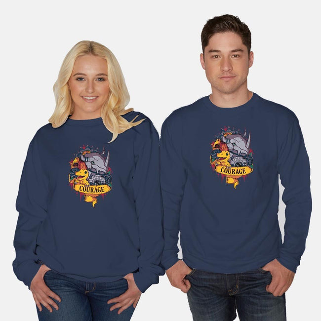 Courage Power-unisex crew neck sweatshirt-Typhoonic
